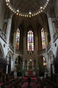 The inside of the Schlosskirche (Castle Church), upon whose door Luther nailed his 95 Theses.